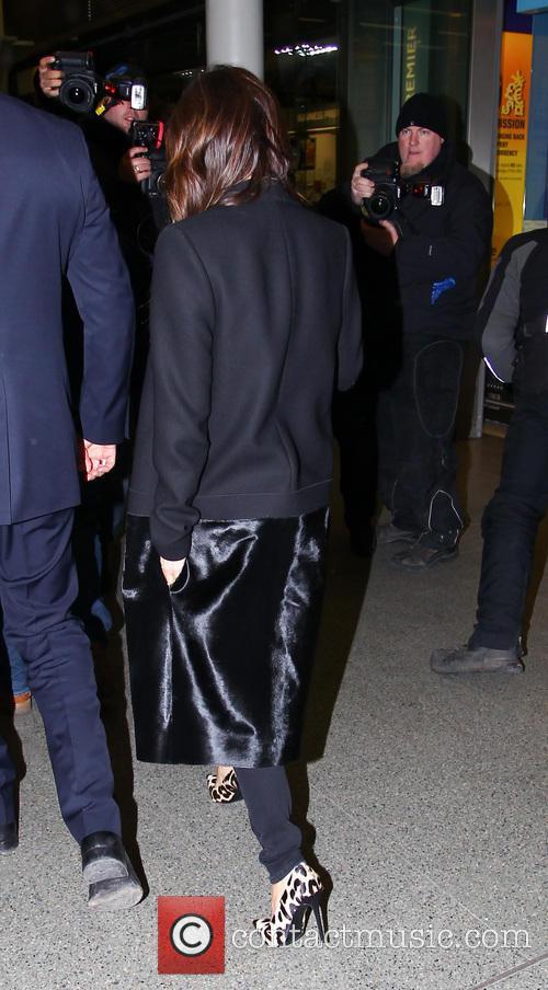 Victoria Beckham arrives at St Pancras International station