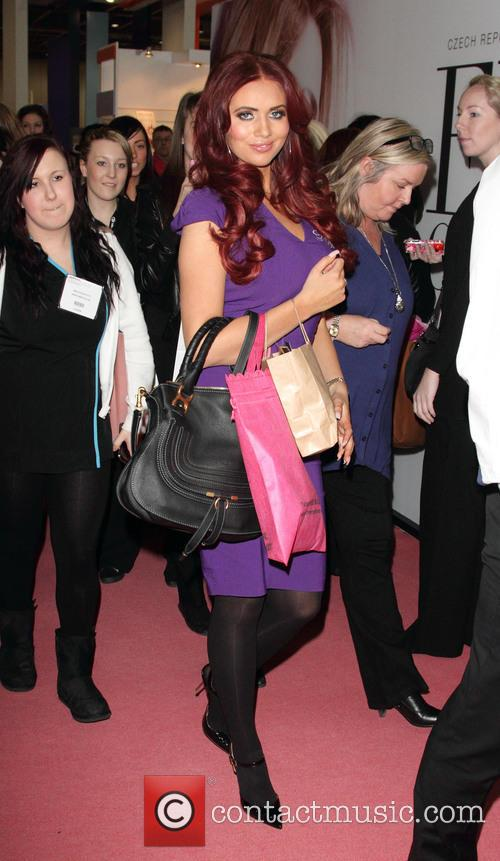 Amy Childs at Professional Beauty 2013 Show