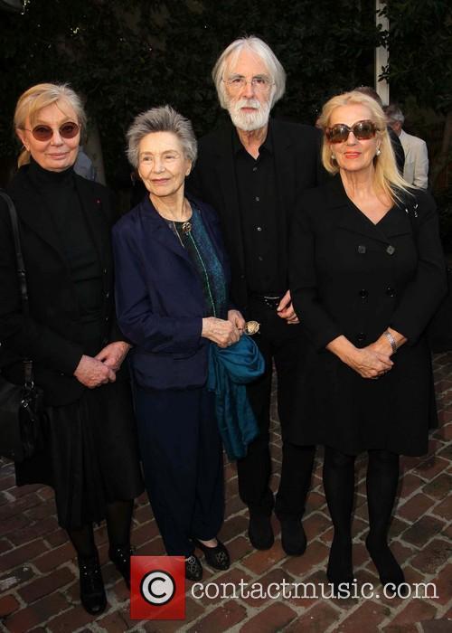 Margaret Menegoz, Emmanuelle Riva, Michael Haneke and Susanne Haneke 1