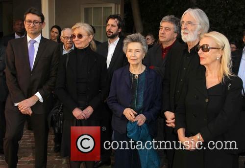 Mr. Axel Cruau, Margaret Menegoz, Emmanuelle Riva, Michael Haneke and Susanne Haneke 2