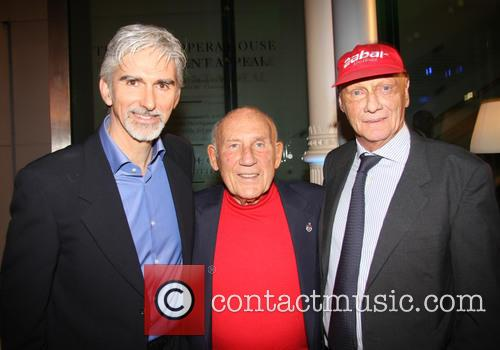 Damon Hill, Sir Stirling Moss and Niki Lauda 2