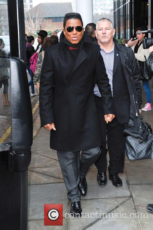 The Jacksons leave their hotel in Birmingham ahead of the opening night  performance of The Jacksons UK Tour