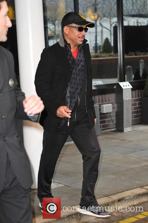 The Jacksons leave their hotel in Birmingham ahead...