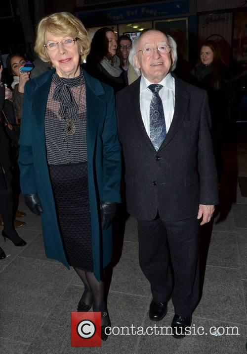 Michael D Higgins and Wife Sabina Coyle 2