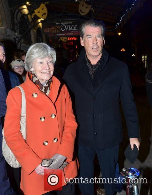Pierce Brosnan and Mother May 2