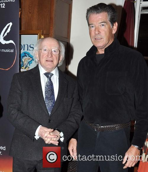 Pierce Brosnan and Michael D Higgins 6
