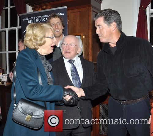 Pierce Brosnan and Michael D Higgins 7