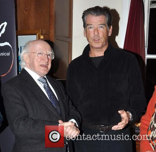Pierce Brosnan and Michael D Higgins 1
