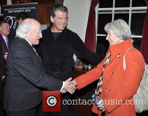 Pierce Brosnan, Michael D Higgins and May Brosnan 10