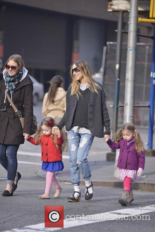 Sarah Jessica Parker heads on a school run...