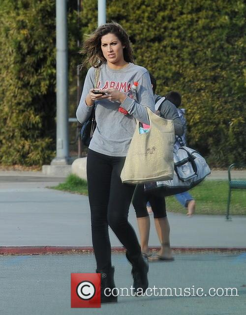 katherine webb celebrities practice their dives for 3530008