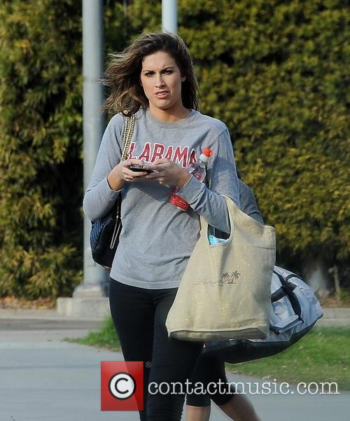 katherine webb celebrities practice their dives for 3530013