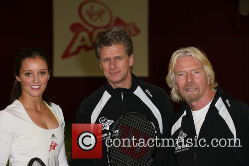 Laura Robson, Richard Branson and Andrew Castle 4