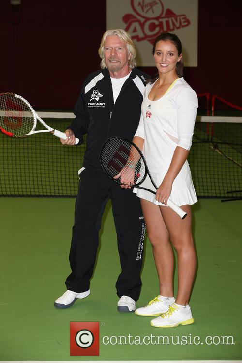 Laura Robson and Richard Branson 2