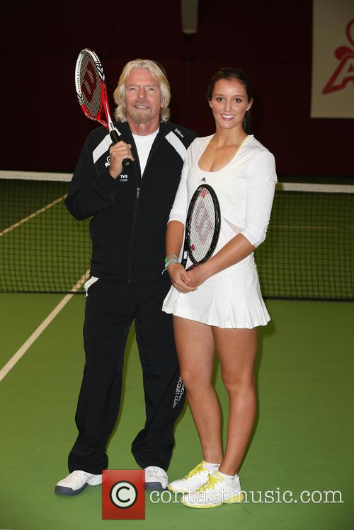 Laura Robson and Richard Branson 5