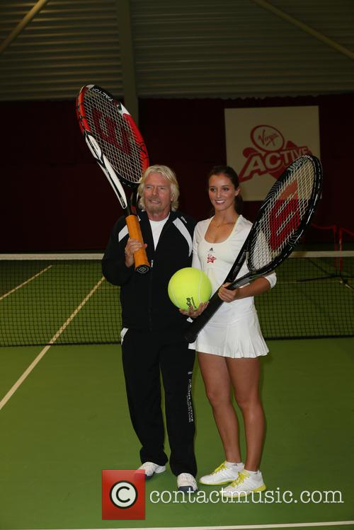 Laura Robson and Richard Branson 6