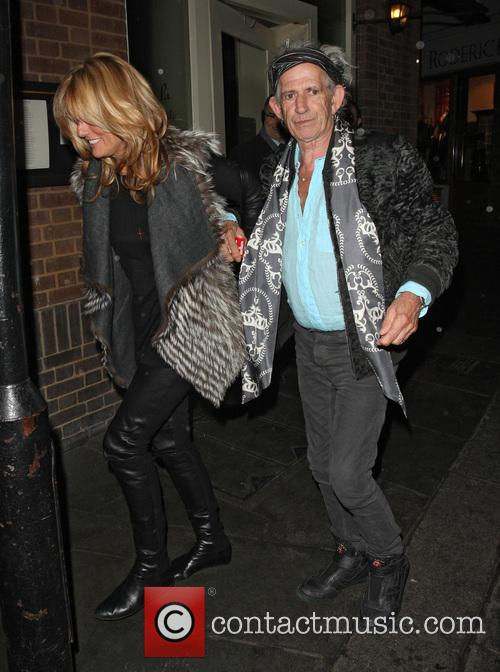 Keith Richards and Patti Hansen 1