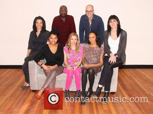 The Call, Tanya Barfield, Russell G. Jones, Kelly Aucoin, Leigh Silverman, Crystal A. Dickinson, Kerry Butler and Eisa Davis 2