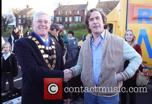 Steve Coogan, Mayor Of Sheringham and David Gooch 8