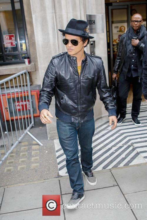 Bruno Mars outside  BBC Radio 2