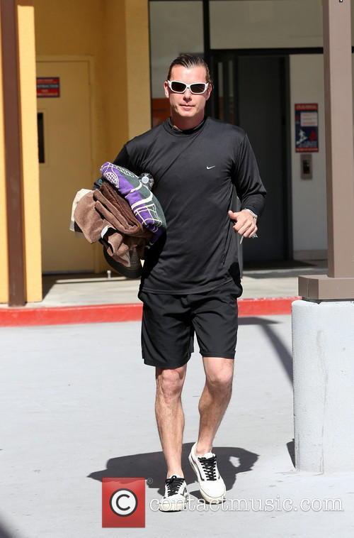 Gavin Rossdale is seen in good spirits after...