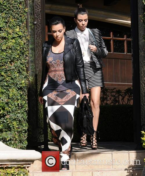 Kim Kardashian and Kourtney Kardashian 3