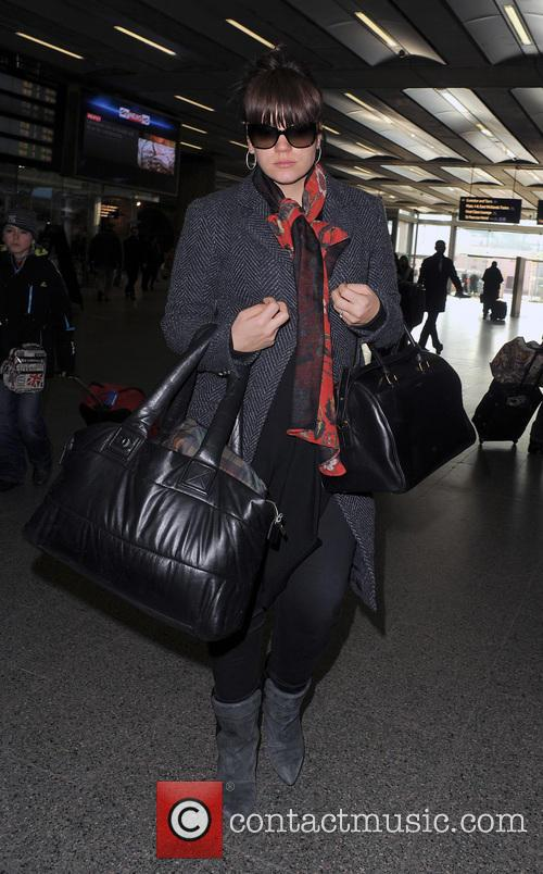 Lily Allen at the Eurostar terminal