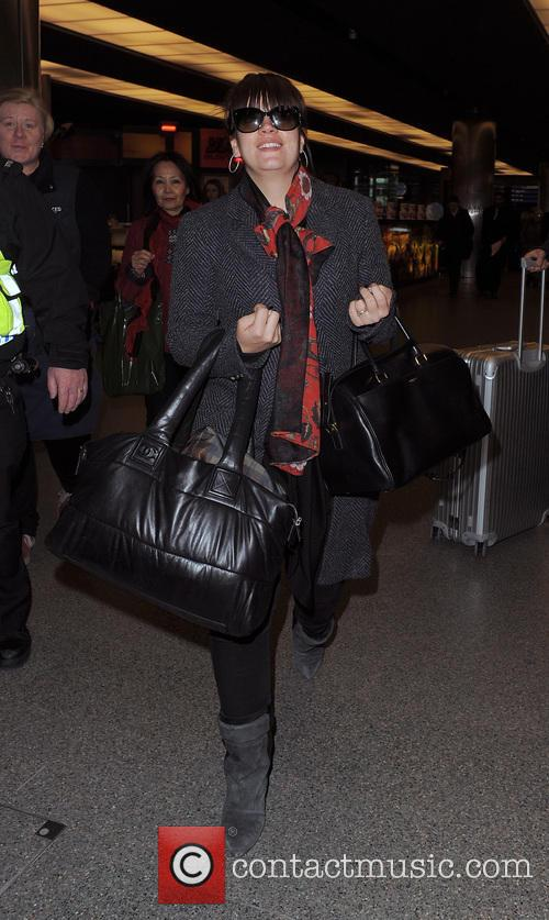 Lily Allen at the Eurostar terminal