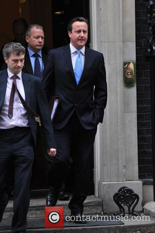 Prime Minister David Cameron and Michael Gove and...