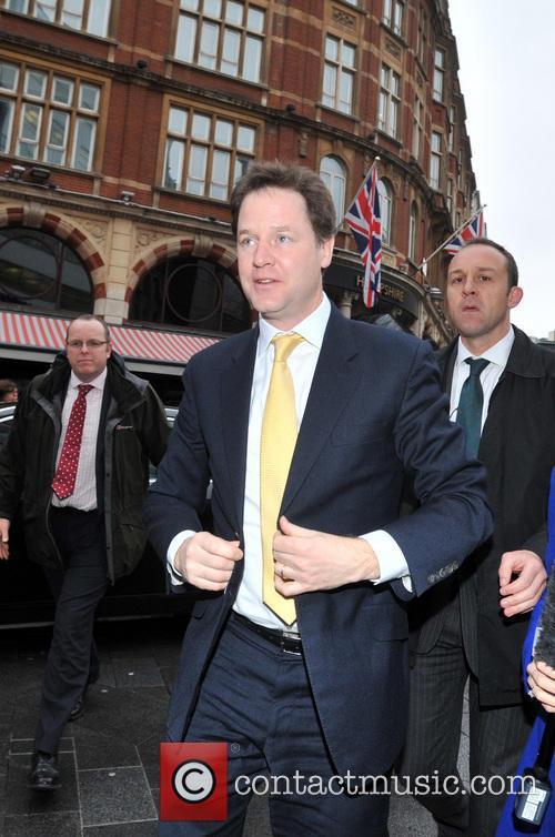 Nick Clegg arrives at LBC studios