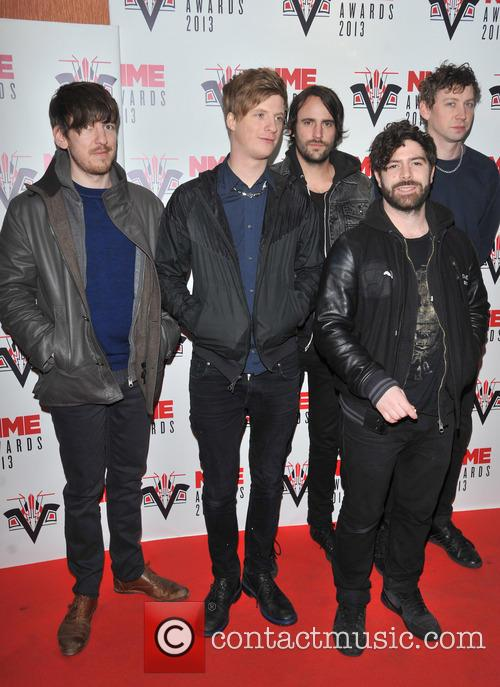 Foals, Yannis Philippakis, Jack Bevan, Walter Gervers, Edwin Congreave, Jimmy Smith and Andrew Mears 2