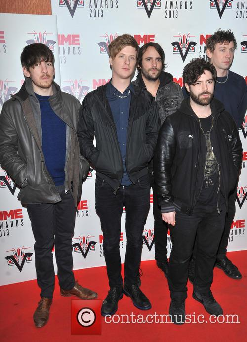 Foals, Yannis Philippakis, Jack Bevan, Walter Gervers, Edwin Congreave, Jimmy Smith and Andrew Mears 1