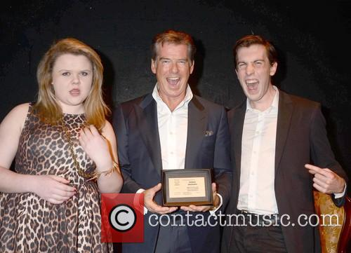 Actor Pierce Brosnan receives the Honorary Patronage
