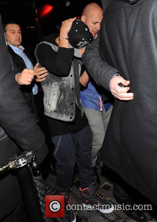 Justin Bieber Nightclubbing In London