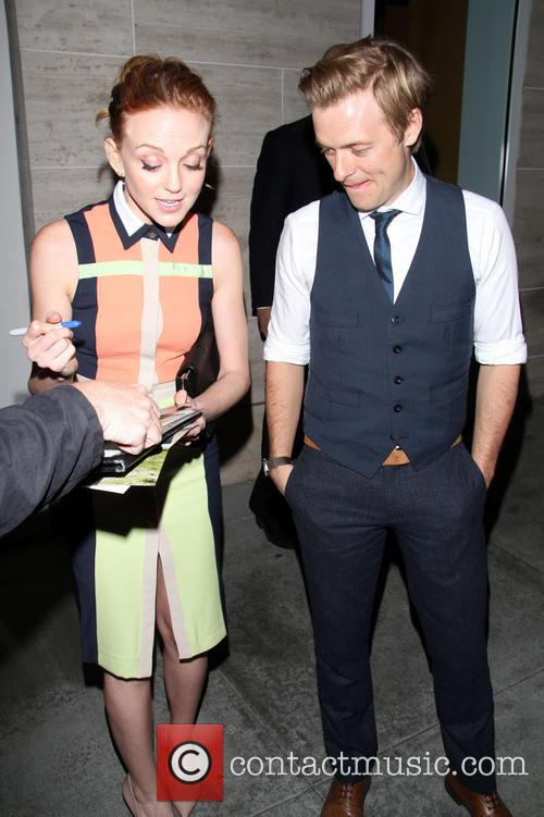 Jayma Mays and Adam Campbell 1