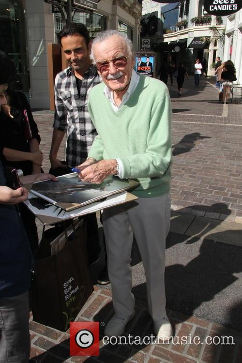 stan lee celebrities at the grove to 3532539