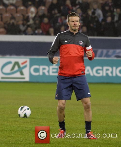 David Beckham At The French Cup Match