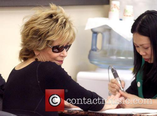 Jane Fonda At A Nail Salon