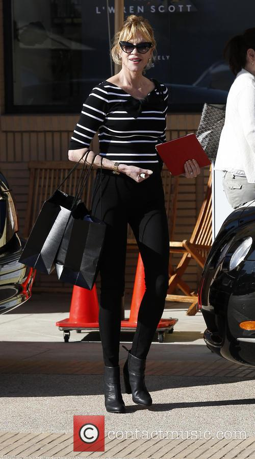 Melanie Griffith Shopping At Barneys New York