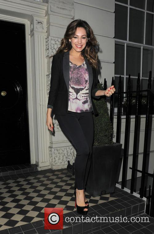 Kelly Brook leaving home in the morning