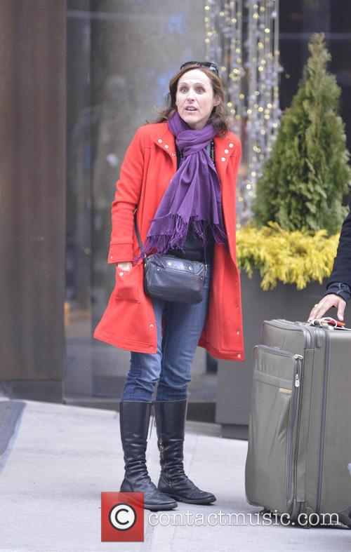 Molly Shannon arrives at her Manhattan hotel