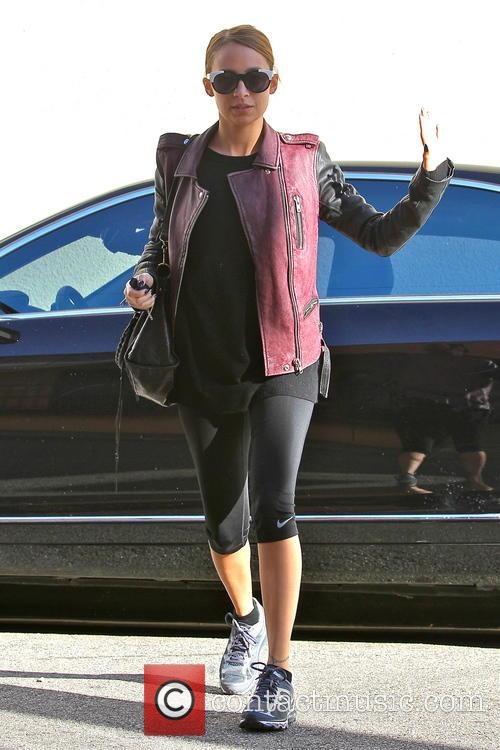 Nicole Richie arrives at the gym in Studio...