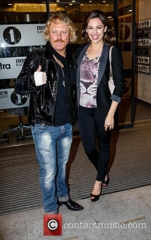 Leigh Francis, Kelly Brook, BBC Radio 1 Studios