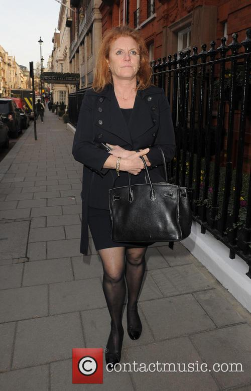 Sarah Ferguson out and about in Mayfair