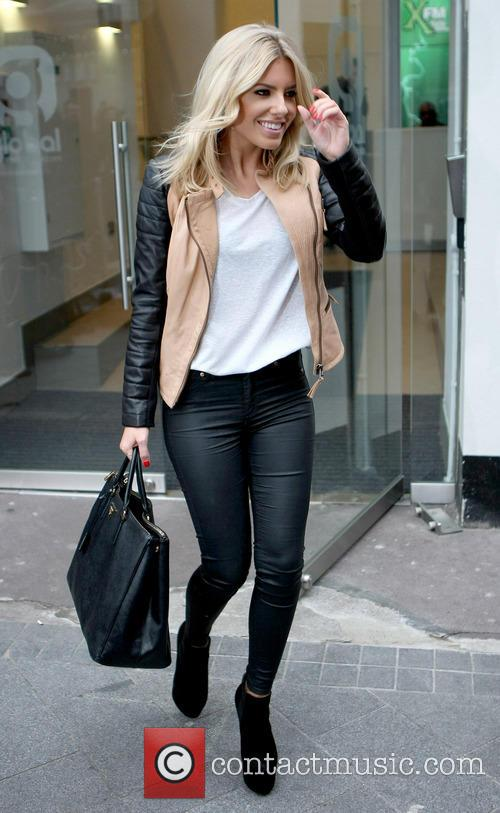 mollie king the saturdays heart radio studio celebs 3534781