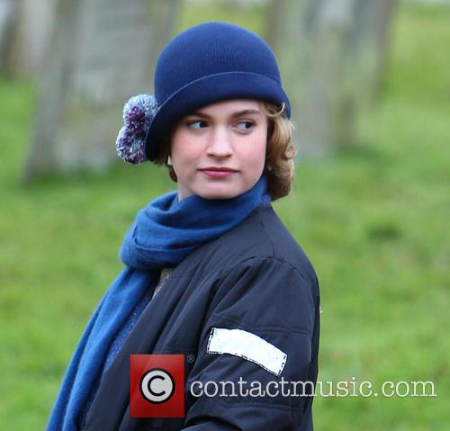 Lily James, Downton Abbey Filming