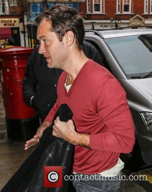jude law celebrities outside the bbc radio 3534399