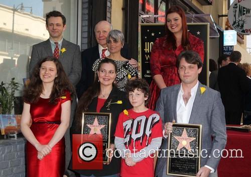Maria Burton, Michael Sheen, David Rowe-Beddoe, Kate Charlotte and Morgan Ritchie 1
