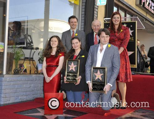 Maria Burton, Michael Sheen, David Rowe Beddoe, Morgan Ritchie and Charlotte Ritchie 1