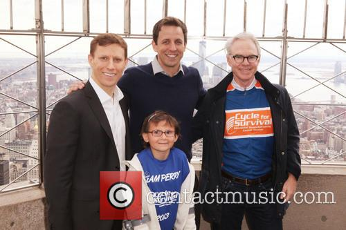 Dave Linn, Seth Meyers, Dr. Charles Sawyers and Team Perry 1